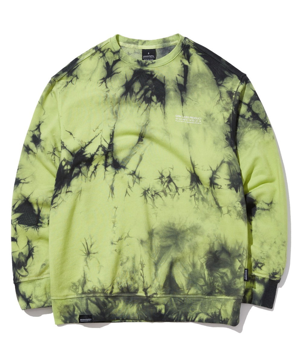 TRENDY TIE-DYEING SWEAT SHIRTS (LIME) [GMT510H43LMA]