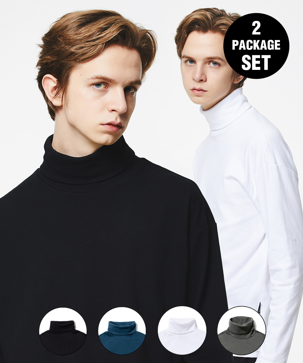1+1 DAILY TURTLE NECK T-SHIRTS 4COLOR [GLT602H33]