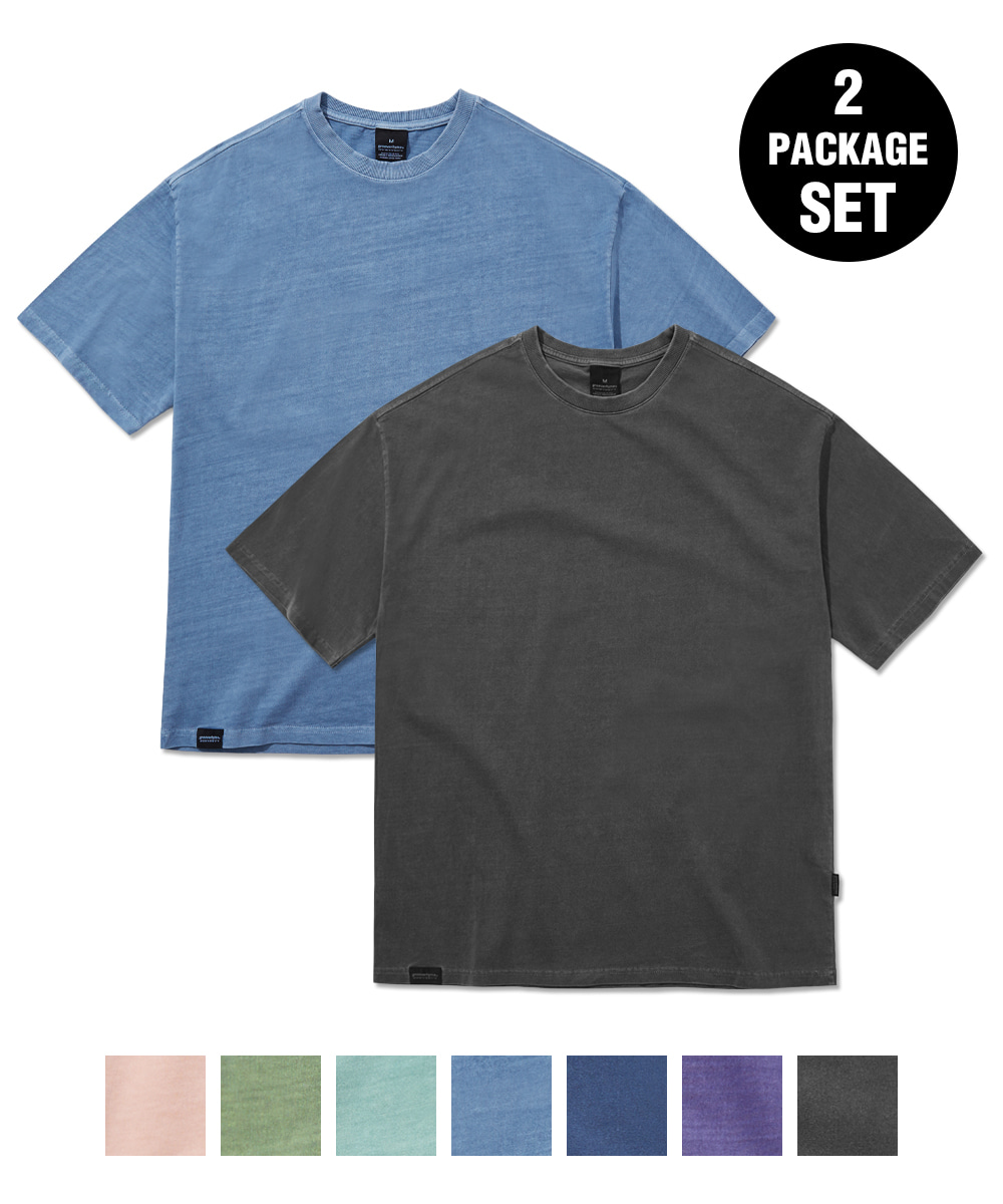 1+1 BASIC PIGMENT OVER FIT T-SHIRTS (7 COLORS) [GTS764I23]