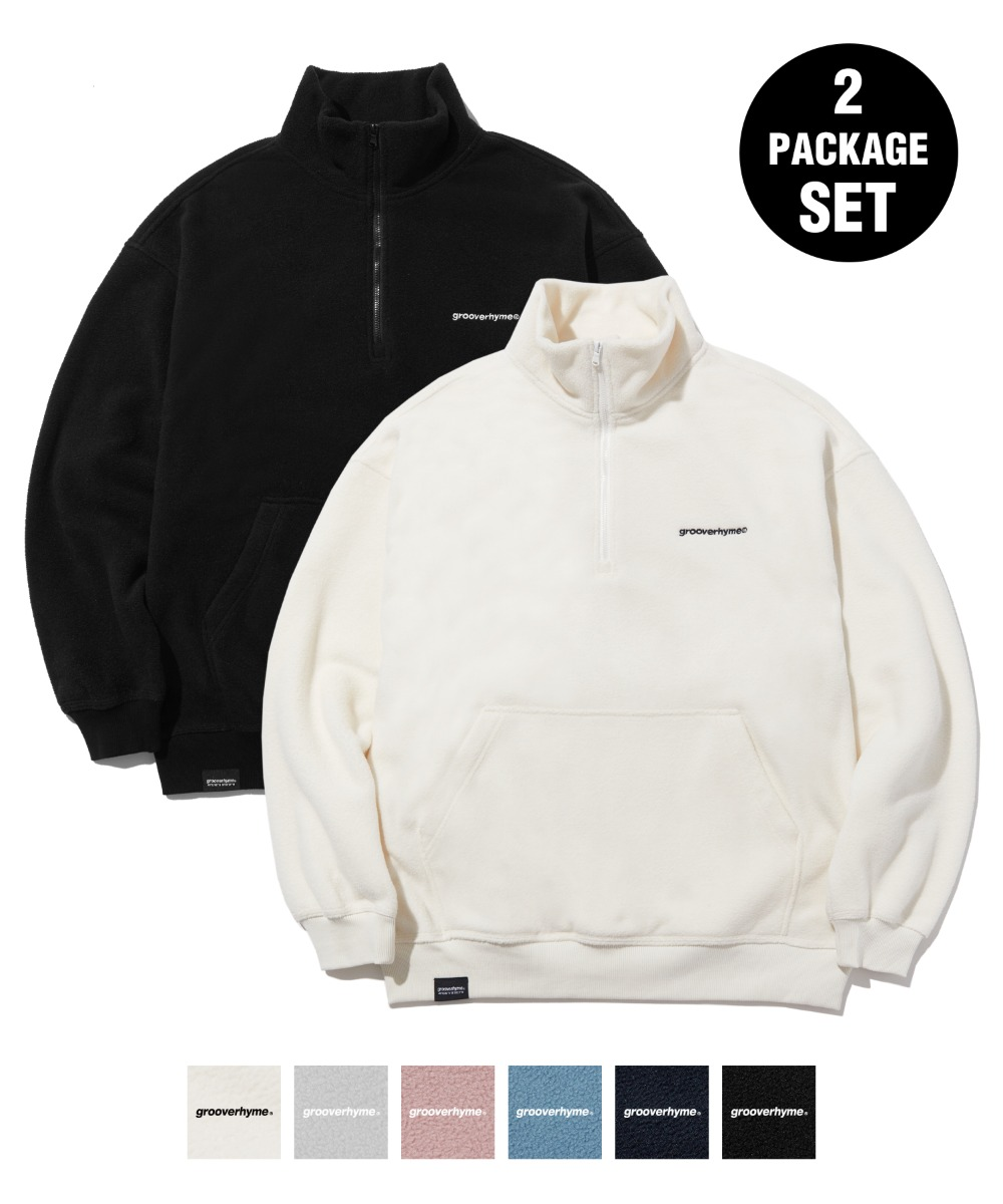 [1+1] COMFORTABLE HALF ZIP-UP FLEECE (6color) [LROWCFN781M]