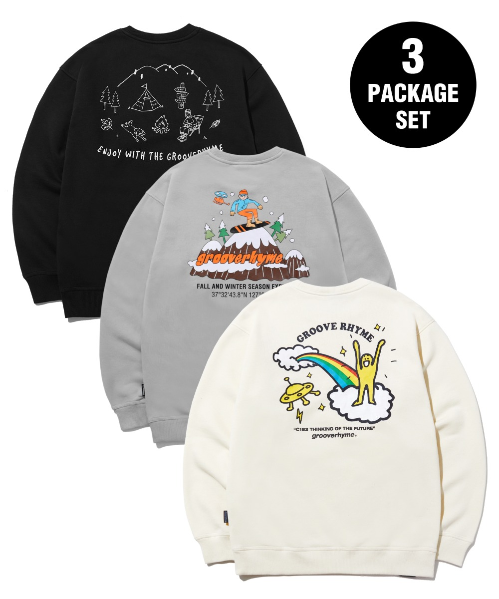 [사은품] [패키지] 9TH ANNIVERSARY 3PACK SWEAT SHIRTS EDITION