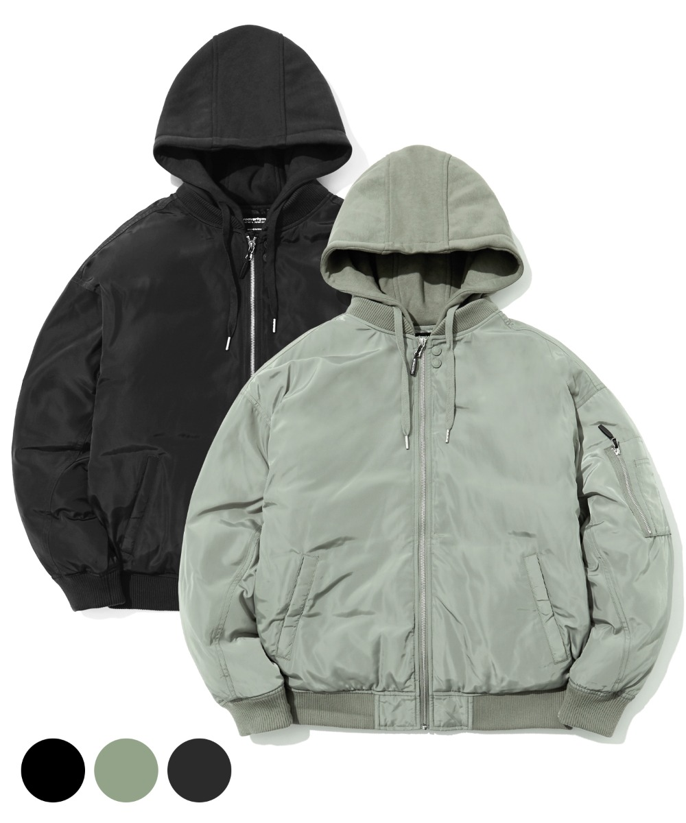 TERRY HOOD MA-1 JUMPER (3color) [LROWCUP703M]