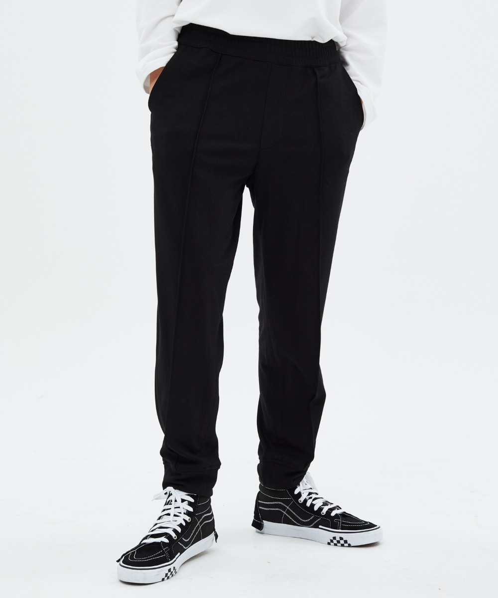 DOUBLE FACED FABRIC PANTS (BLACK) [LROFCPJ754MBKA]
