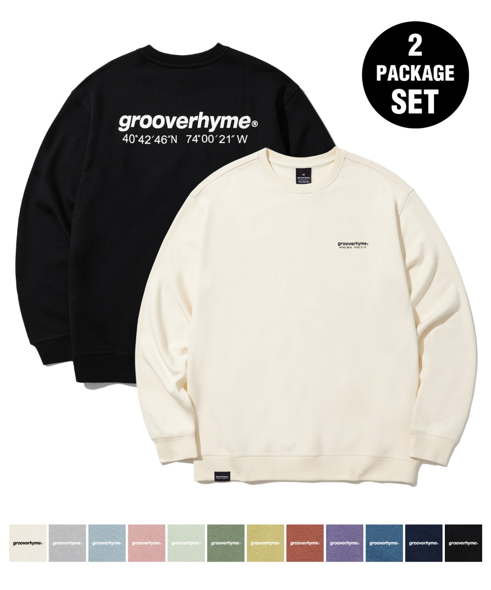 [1+1] NYC LOCATION SWEAT SHIRTS (기모) (12color) [LROWCTM712M]
